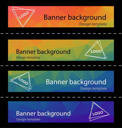 header label: Polygonal abstract modern banner background template for website,header,label,presentation ,brochure modern layout