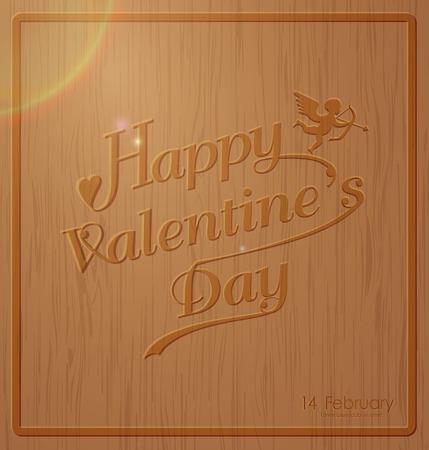 お祝い、本、カード、広告、ポスター、ボード、ポストカード、ベクトル図のためのアイデアを適応するには、彫刻が施された木製の背景テクスチ  イラスト・ベクター素材