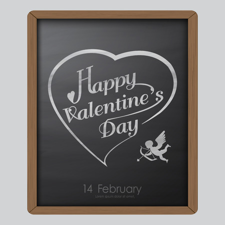 adapt: Happy valentine day typography drawing on chalkboard background texture vintage style ,To apply or adapt for celebration,wallpaper ,label,advertising,poster,card,board,vector illustration