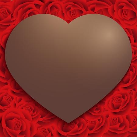 幸せのバレンタインの日、赤いバラ模様背景、メッセージを書いて、パンフレット、お祝いカード、ギフト、広告、ポスター、はがきのためのアイ  イラスト・ベクター素材