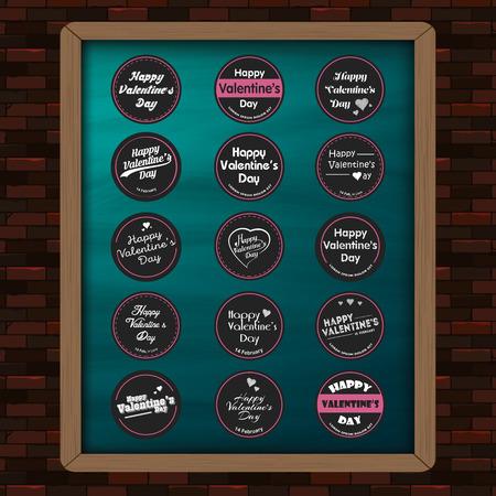 メガ要素広告、パンフレット ベクトル イラスト ステッカー、ラベル、心、バッジ、黒板、ポスター、カード、アイデア、装飾、適用するデザイン