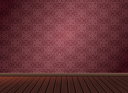 Pattern background texture with wooden floor in vintage style,To apply for textile background,room, interior,studio,decoration,architecture,vector illustration