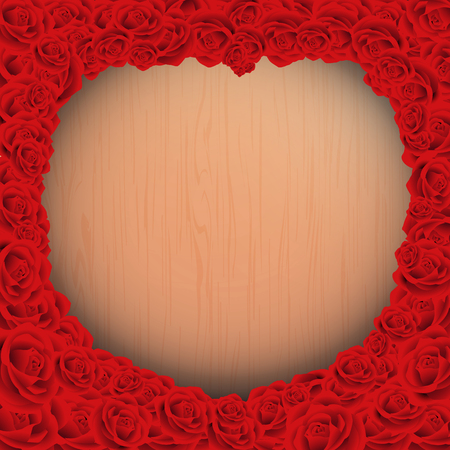 赤い木製の背景テクスチャとハッピーバレンタインデー ローズ ビンテージ スタイル、お祝い、結婚式、ラベル、広告、ポスター、カード、ボード