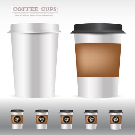 絶縁コーヒーの包装カップ、アイデア広告、商品パッケージ、メニューの背景、コーヒー ショップ、レストランの製品、カフェ .vector 図を申請する  イラスト・ベクター素材