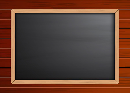 wooden frame: Chalkboard background template on wooden pattern texture,To adapt or apply for lecture, teaching,classroom, sketch,drawing,lettering,sketching,vector,illustration