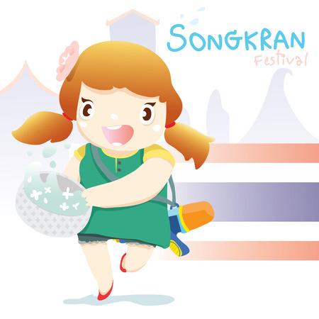 songkran: songkran festival girl