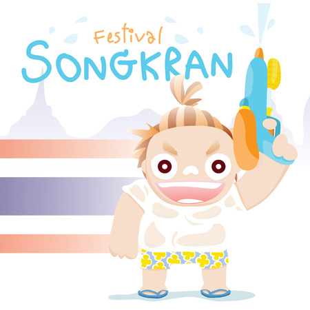 songkran: songkran festival boy