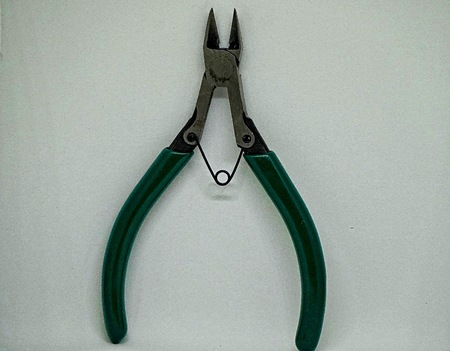 intended: Diagonal pliers (or wire cutters or diagonal cutting pliers or diagonal cutters) are pliers intended for the cutting of wire