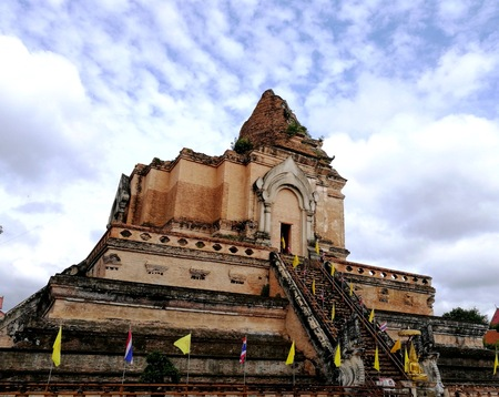 one of the tallest pagodas in Thailand, the building has since collapsed but is still beautiful to behold.