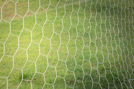 abstract soccer goal net pattern, select focus