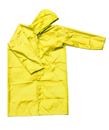 jupe: raincoat isolated on white background Stock Photo