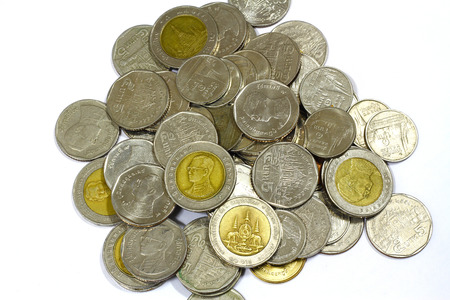 thai baht coins photo