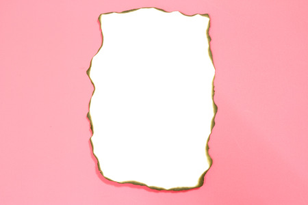 blank white note on pink background photo
