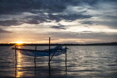 Mekong River and sunset.