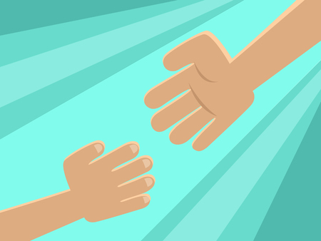 rescuer: Hand of rescuer. Vector. Illustration. Illustration