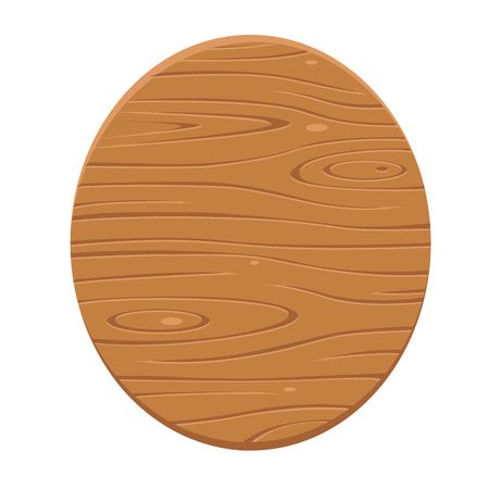 oval shape: Wood sign in oval shape. Vector, illustration.