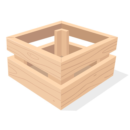 crate: Wooden crate. Vector Illustration.