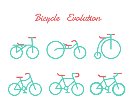 velocipede: Bicycle evolution. It is illustration.