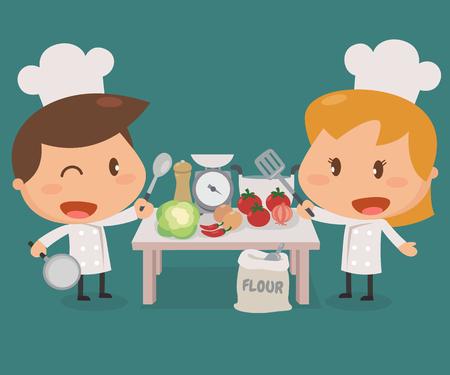 scuola di cucina attivit per bambini character design piatto illustrazione cottura dei