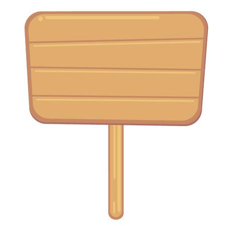 rectangle: Wood sign in rectangle shape. Illustration. Illustration