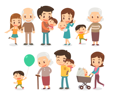 Family and kids. Activities of people.