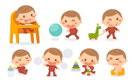 Etapas del desarrollo del bebé.
