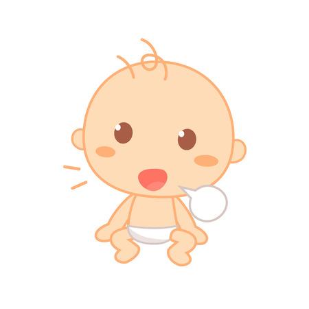 Baby babbling, cute baby milestone.