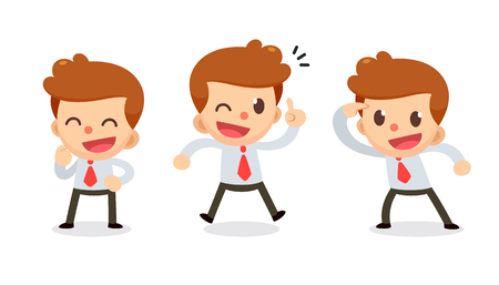 Set of Tiny businessman character in actions. Great idea. Illustration
