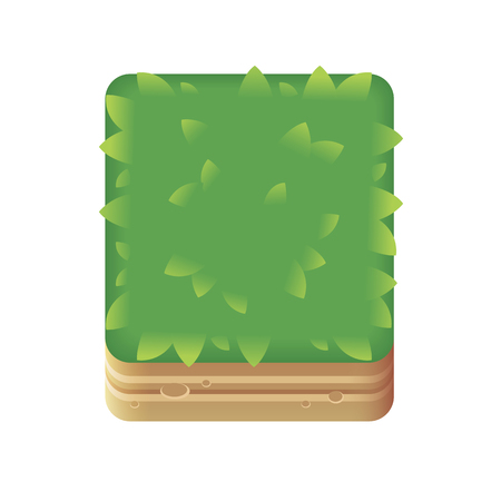 Block of grass for game development on phone or computer.