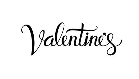 Valentine hand lettering calligraphy. Illustration