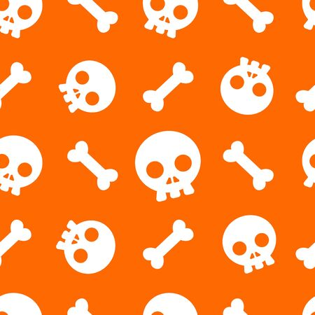 Halloween pattern and wallpaper for gift and present on Halloween day. Skeletons and bones.  イラスト・ベクター素材