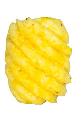 ripe pineapple isolated on White background   Archivio Fotografico