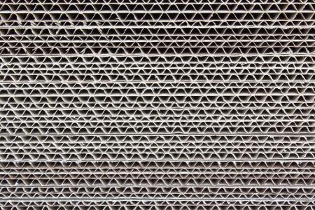 Corrugated cardboard, cut a 45 degree  Archivio Fotografico