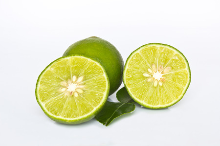 Fresh lime isolated on white  photo