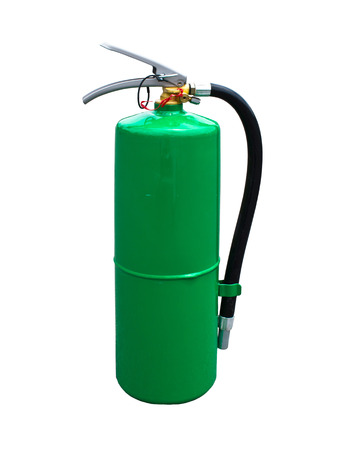 Fire extinguisher green on a white background  photo