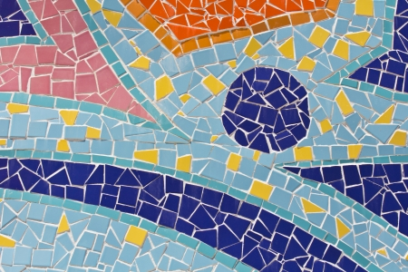 colorful of Mosaic tiles  photo