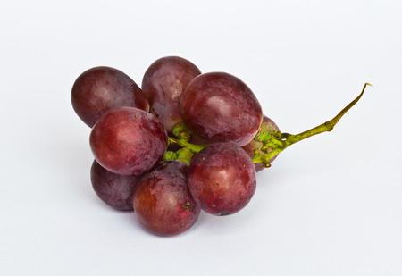 red grape isolated on white background Archivio Fotografico
