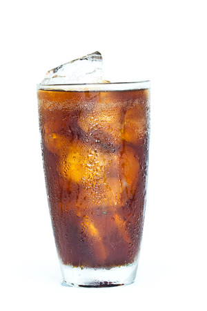 soft drink on white background