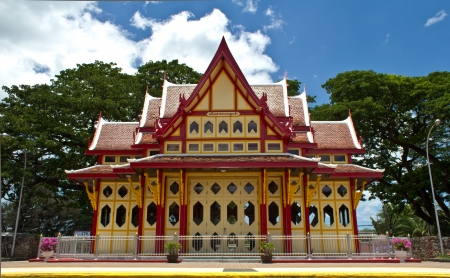 An image of the Hua Hin train station in Thailand   Archivio Fotografico