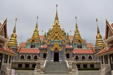 Pagoda nine peaks on mountain in Prachuap Khiri Khan Thailand