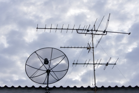 concomitant: antenna and dish