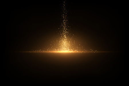 Eps 10 sparkling golden glitter on black. Abstract luxury background