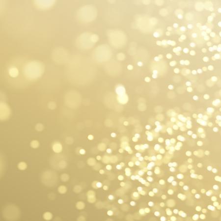 Festive glowing golden light effect, sparkling glittering decorative background