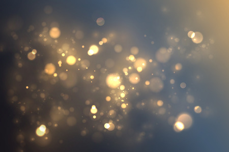 Golden light effect. Abstract gold bokeh magical background 向量圖像