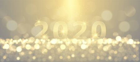 New year festive sparkling 2020 golden numbers background