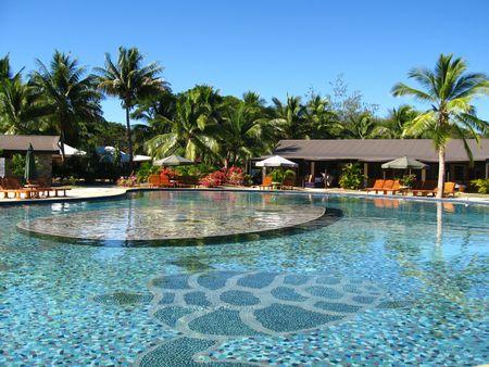 Swimming pool in a resort, Fiji