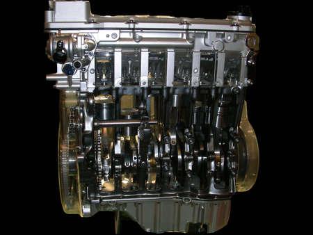 disintegration: Transparent motor car engine