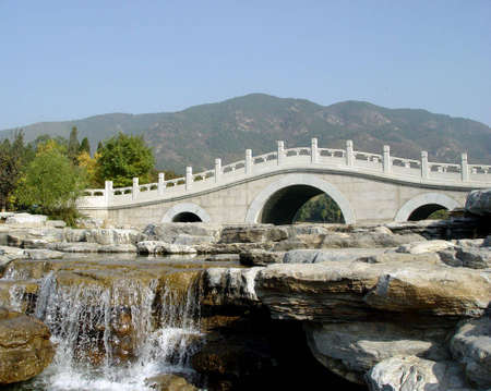 Stone arch bridge Stock Photo - 621256