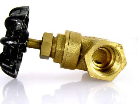 mains: Water valve Stock Photo