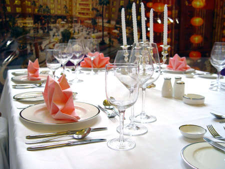 WEDDING BANQUET TABLE DETAILS                                 photo
